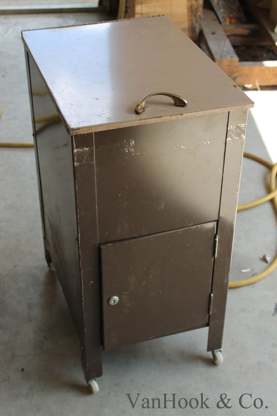 VanHook  Co Metal File Cabinet Repurposed