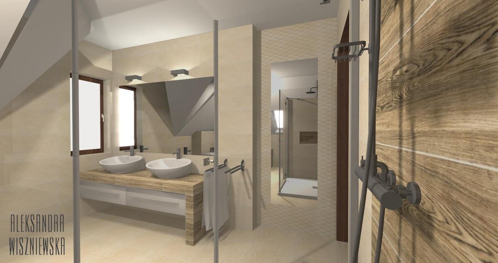 Projekty łazienek Wizualizacje Tubądzin Venatello