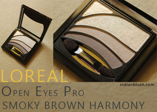 L'Oreal Open Eyes Pro Eyeshadow in 08 Smoky Brown Harmony Review and Swatches