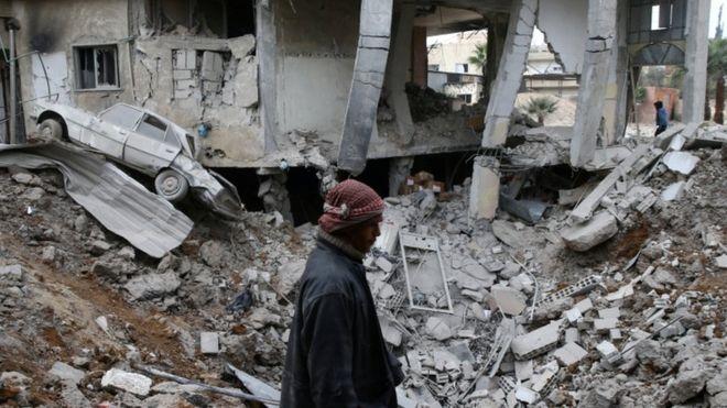 Serangan Rezim Suriah Tewaskan 94 Orang di Ghouta Timur