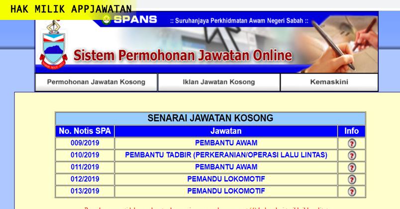 Permohonan Jawatan Kosong Kerajaan Negeri Sabah Appjawatan Malaysia