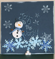 quilling quilled easel card snowman
