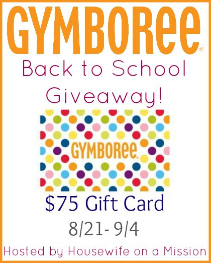Gymboree $75 Gift Card Back to School Giveaway