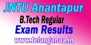 JNTU Anantapur B.Tech Regular Exam Results