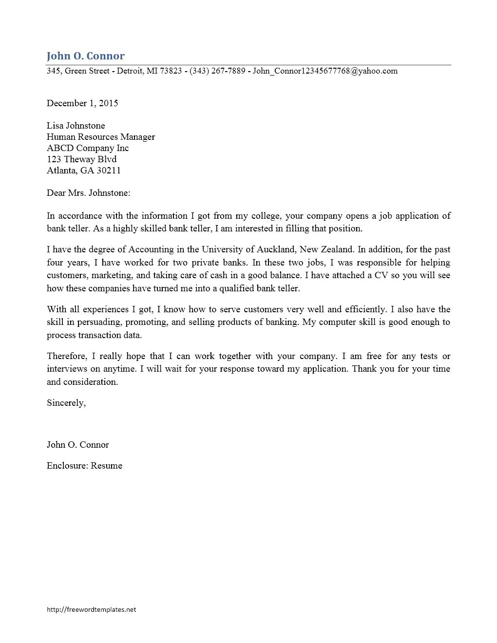 Contoh Surat Lamaran Kerja Staff Marketing Dalam Bahasa Inggris