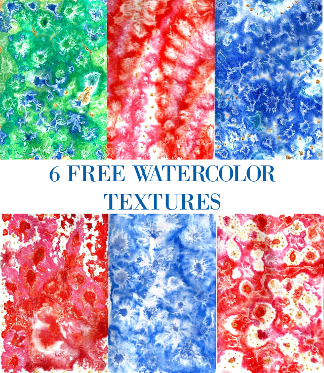 free watercolor textures christmas