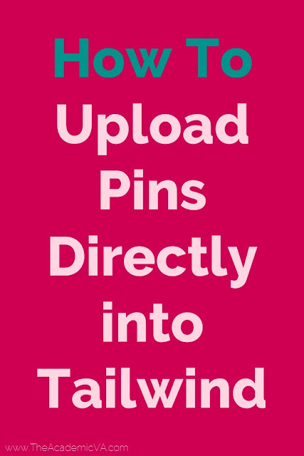 Learn how to upload pins directly into Tailwind with the video tutorial and directions at this blog post. This easy approach allows you to customize what time these new pins go out so you don't have to upload them all to Pinterest at the same time. It's a great strategy for bloggers who use Tailwind regularly.