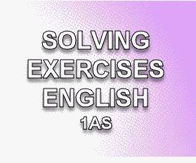 حلول تمارين الأنجليزية SOLVING+EXERCISES+EN