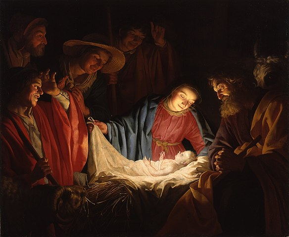 """""""Adoration of the Shepherds"""" by Gerard van Honthorst (1622) - PD-1923"""