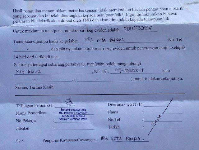 Kerana Bil Elektrik Turun Mendadak, TNB Hantar Notis Ke Rumah