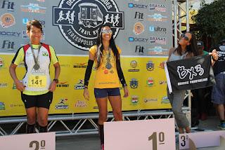 Categoria Solo Feminino: Cristiane Fernandez (1º lugar), Jaqueline Abreu (2º lugar) e Rose Mary Mangia (3º lugar)