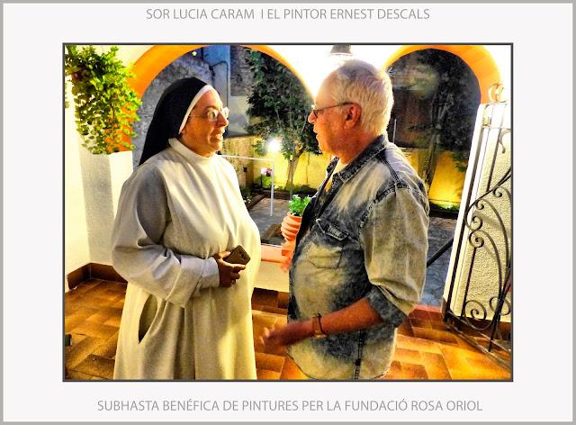 SOR LUCÍA CARAM-PINTURA-PINTORS-SUBHASTA BENÉFICA-MANRESA-FUNDACIÓ ROSA ORIOL- FOTOS-ARTISTA PINTOR-ERNEST DESCALS-