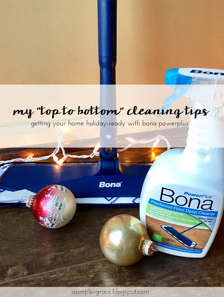 "My ""Top to Bottom"" Cleaning Tips 