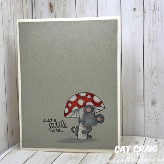 Just a little note by Cat Craig features Garden Mice by Newton's Nook Designs; #newtonsnook