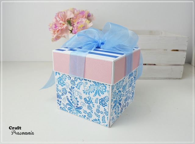 Błękitno-różowy box