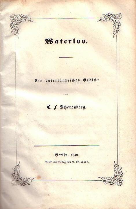 Silvae Vaterlandisches Gedicht