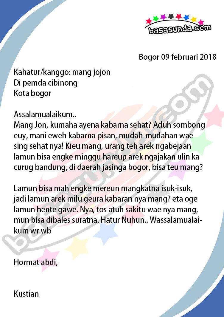 Kumpulan Contoh Surat Pribadi Bahasa Sunda Untuk Teman ...