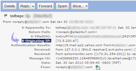Part 2: Trace email on http://whatismyipaddress.com