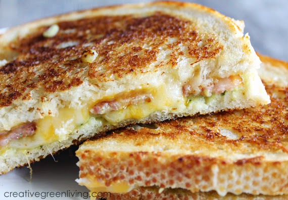 Bacon & Guacamole Grilled Cheese Sandwich