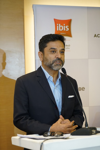 Arif Patel (Vice-President -Sales, Marketing and Distribution, India AccorHotels) at the Launch of ibis Hyderabad Hitec City-min