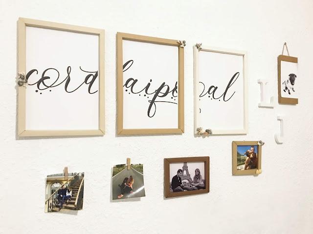 Láminas personalizadas con marcos de cartulina