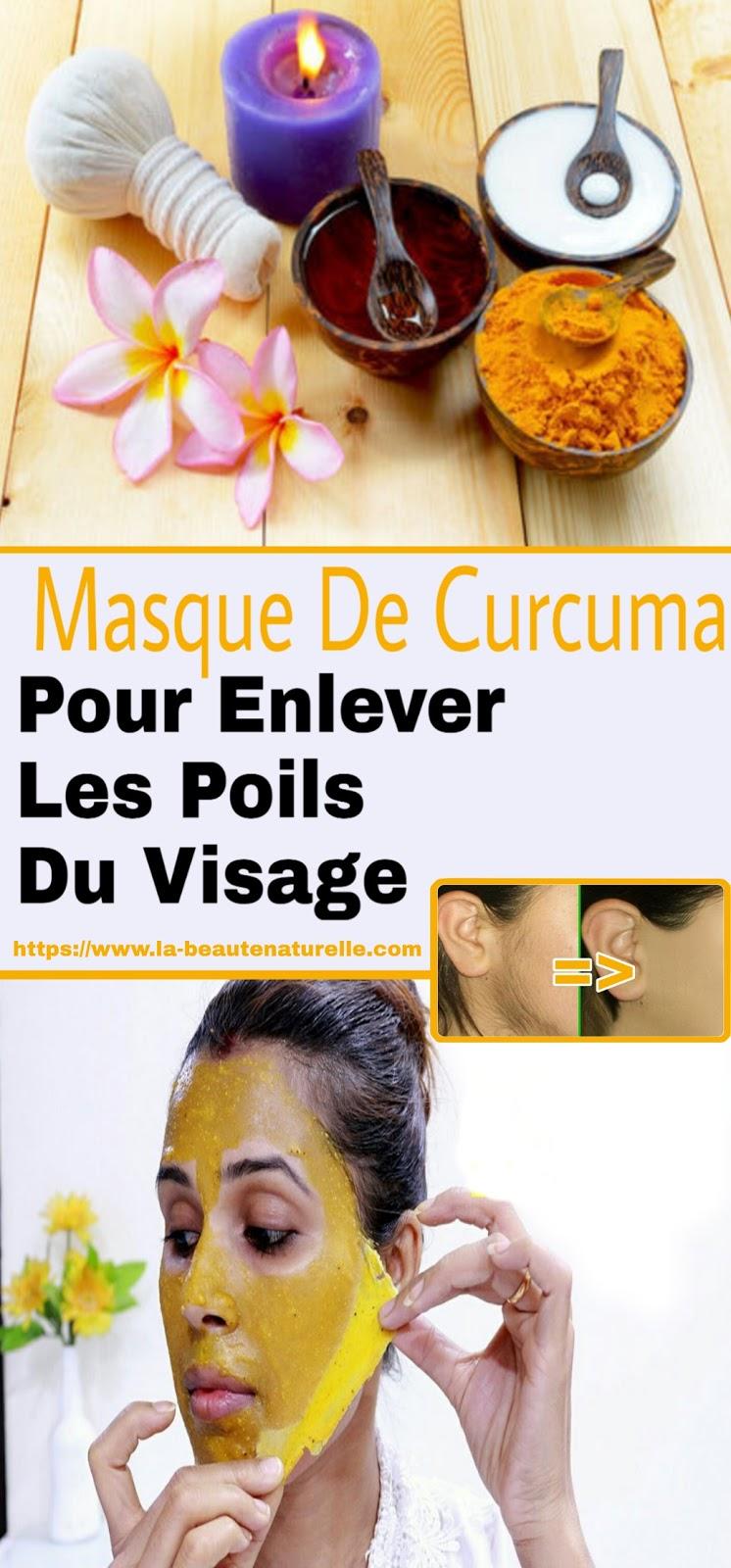 Masque De Curcuma Pour Enlever Les Poils Du Visage