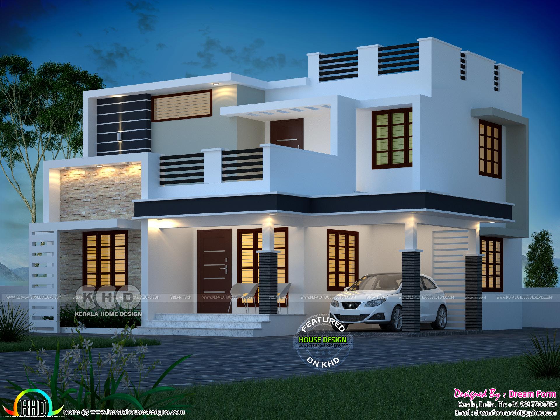 1765 Square Feet Modern Box Model Contemporary House Kerala Home Design Bloglovin