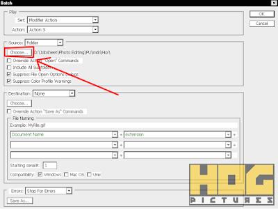 Edit Foto Otomatis dengan Automate Batch