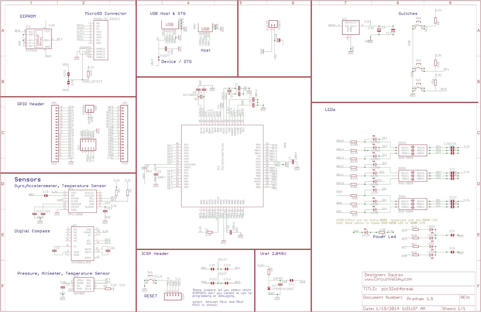 Pratham: Breadboardable PIC32 Breakout/Development Board With USB OTG , USB/SDCard/UART Bootloader 14