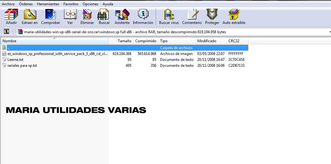 serial de oro para windows xp
