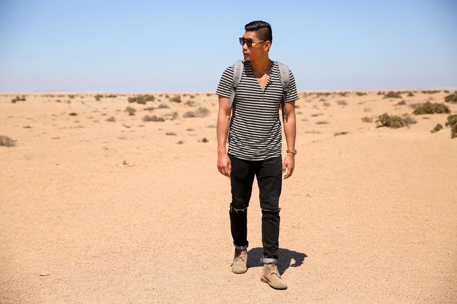 Levitate Style, Clarks Desert Boots, Clarks, Namibia, Travel, Leo Chan, menswear, Namib Desert