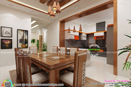 Dining with open kitchen view