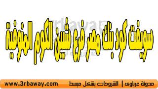 سويفت كود بنك مصر فرع شبين الكوم المنوفية