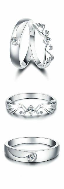 Advantage vintage 14k Platinum wedding rings