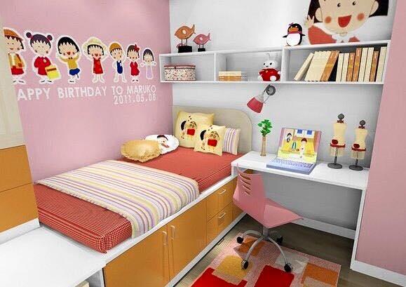 Bilik Tidur Anak Perempuan Kecil