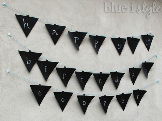 Ill Share More Details About These Cute And Easy DIY Chalkboard Pennants Soon