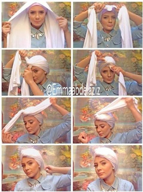 Tutorial Hijab Turban Pashmina Modern Gaya #16 Hobo Sweet