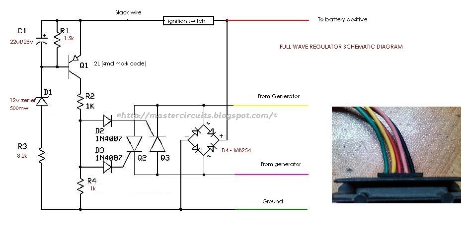 gy6 voltage regulator rectifier wiring diagrams  16 ohm