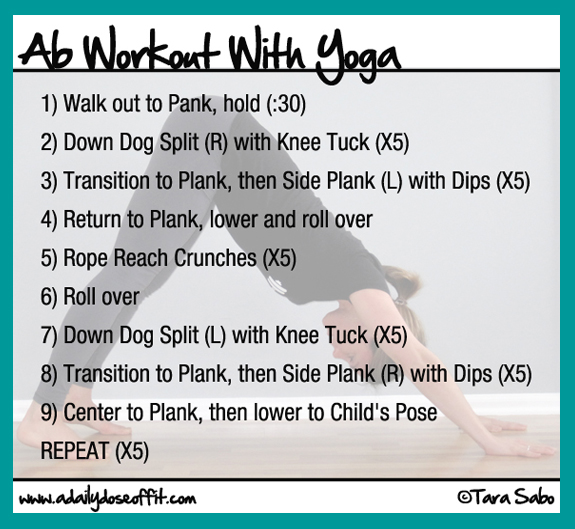 A Daily Dose Of Fit Ab Workout With Yoga 8 Poses For Flat Stomach Screenshot Thumbnail