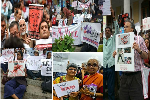 अल्पसंख्यकों पर हो रहे लगातार हमलों के ख़िलाफ आज देश भर में हो रहा है विरोध प्रदर्शन- PICS