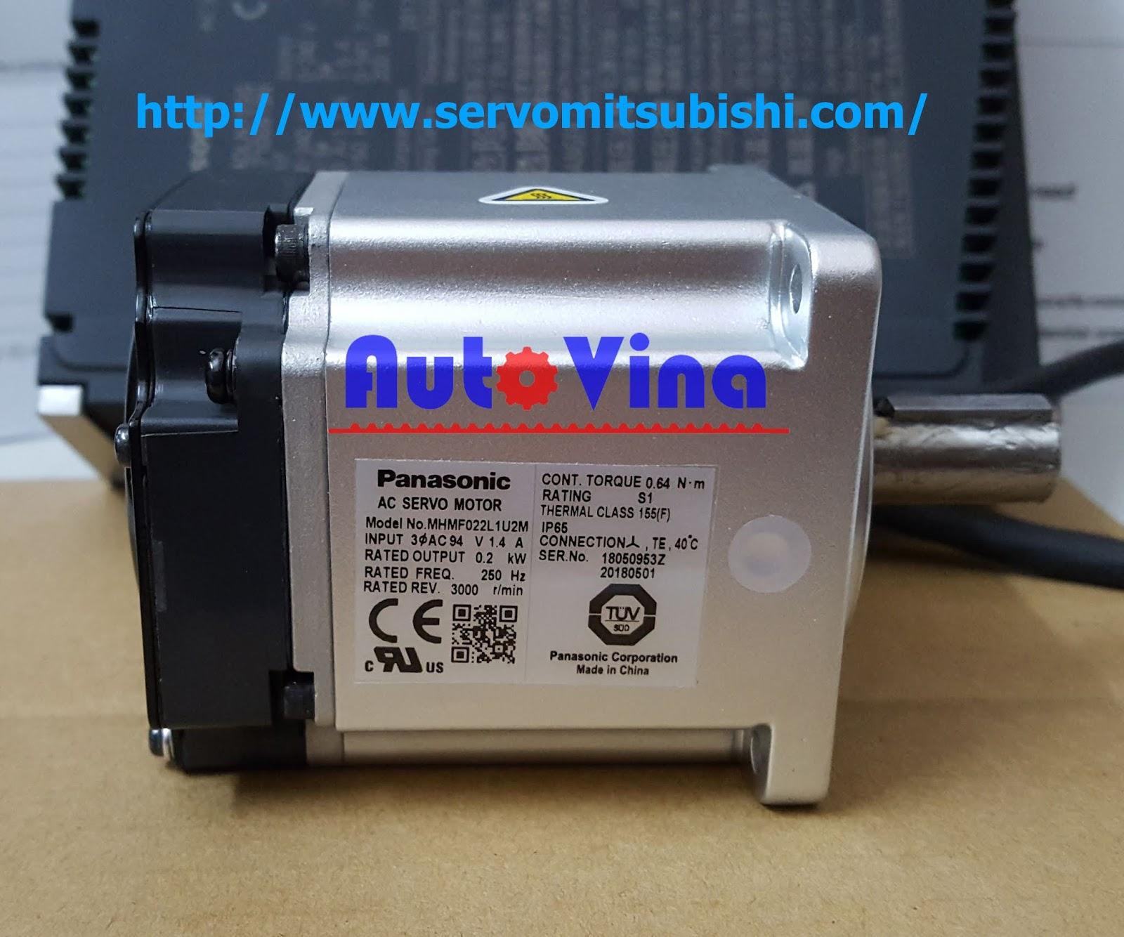 Đại lý bán động cơ Servo Panasonic 200W MHMF022L1U2M