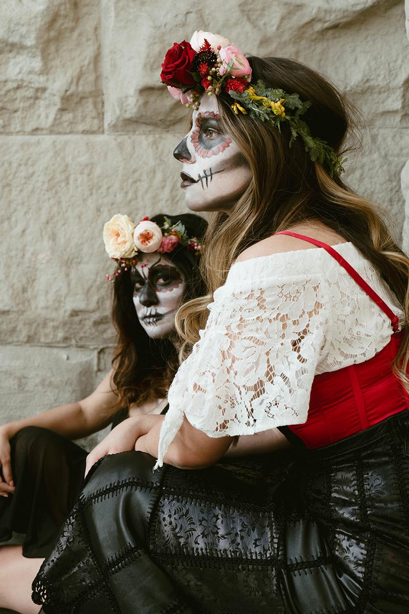 sisters, flower crowns, utah florist