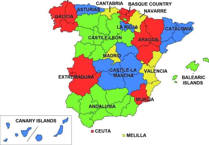 Espacoluzdiamantina 25 Meilleur Carte Espagne Region En Espagnol