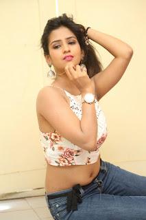 Deekshita Parvathi in a short crop top and Denim Jeans Spicy Pics Beautiful Actress Deekshita Parvathi January 2017 CelebxNext (208).JPG
