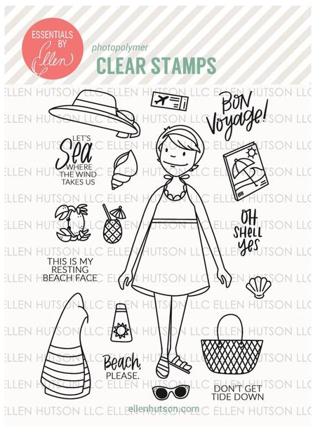 Beachy Lady Stamp Set