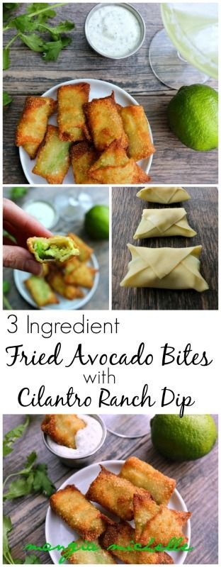 3 Ingredient Fried Avocado Bites With Cilantro Ranch Dip