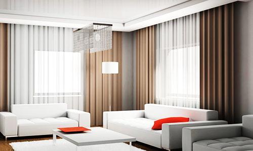 Modern Living Room Curtain Design 2016