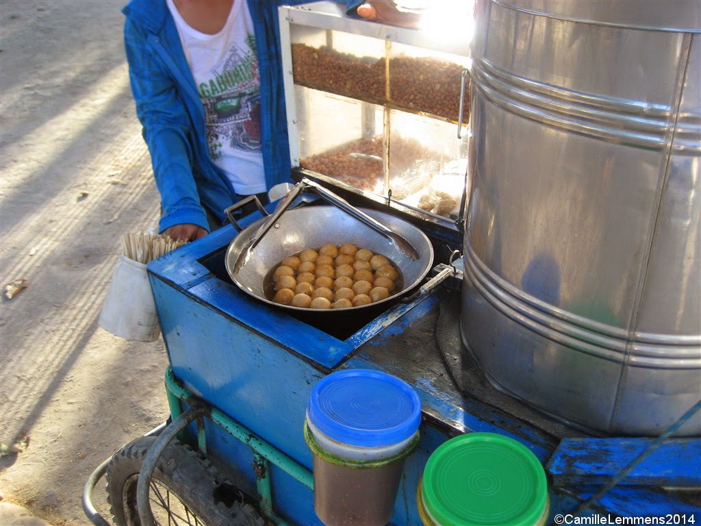 Peanut and fish ball bicycle