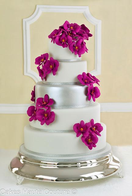 Tarta de boda orquideas