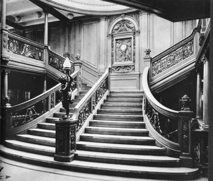 titanic history s most famous ship the grand staircase